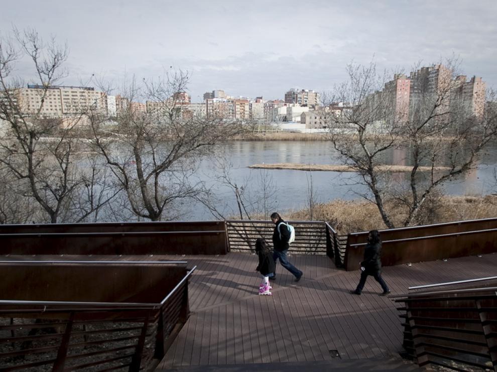 Panorámica de la rivera del Ebro