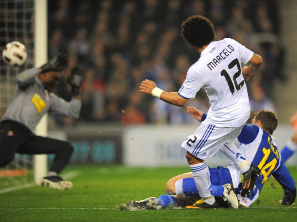 Marcelo anotó el gol de la victoria madridista