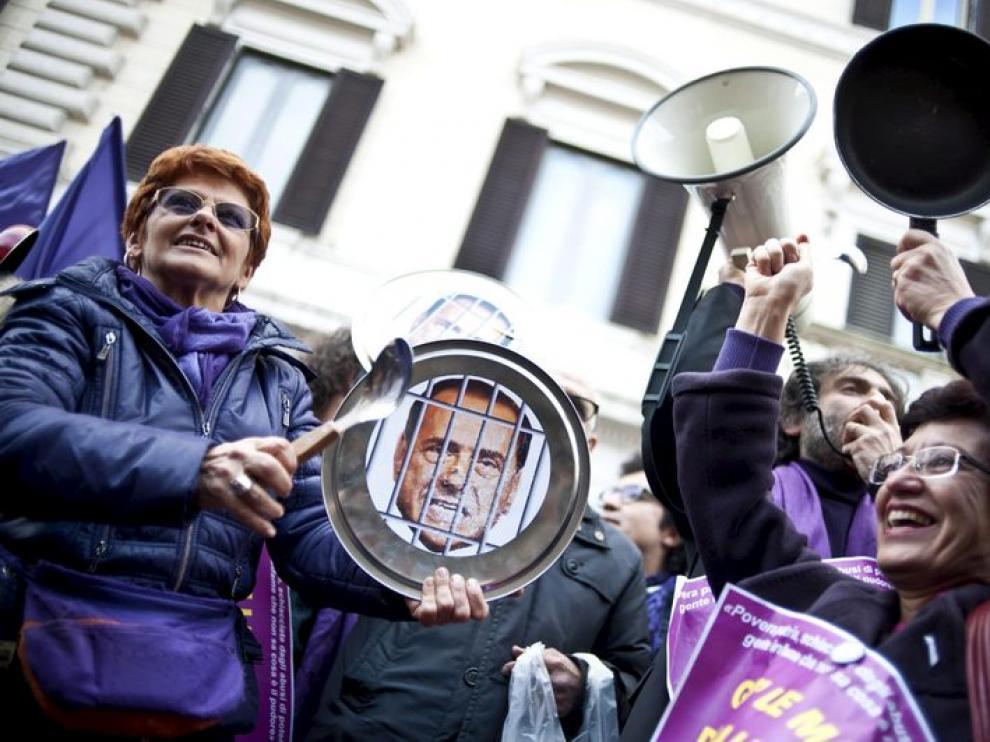 Protesta de las mujeres en Roma