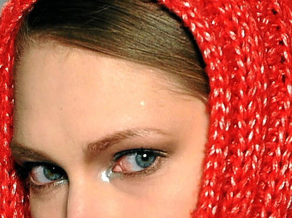 Un modelo de Shabayeva en la pasarela de Nueva York