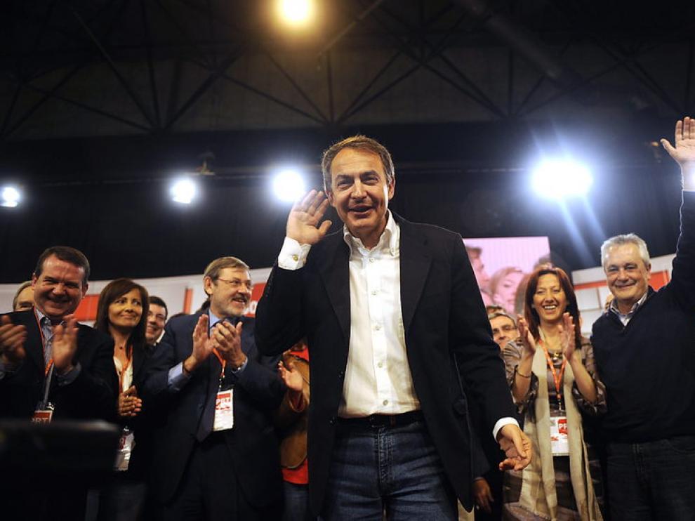 Zapatero, durante la convención socialista en Sevilla