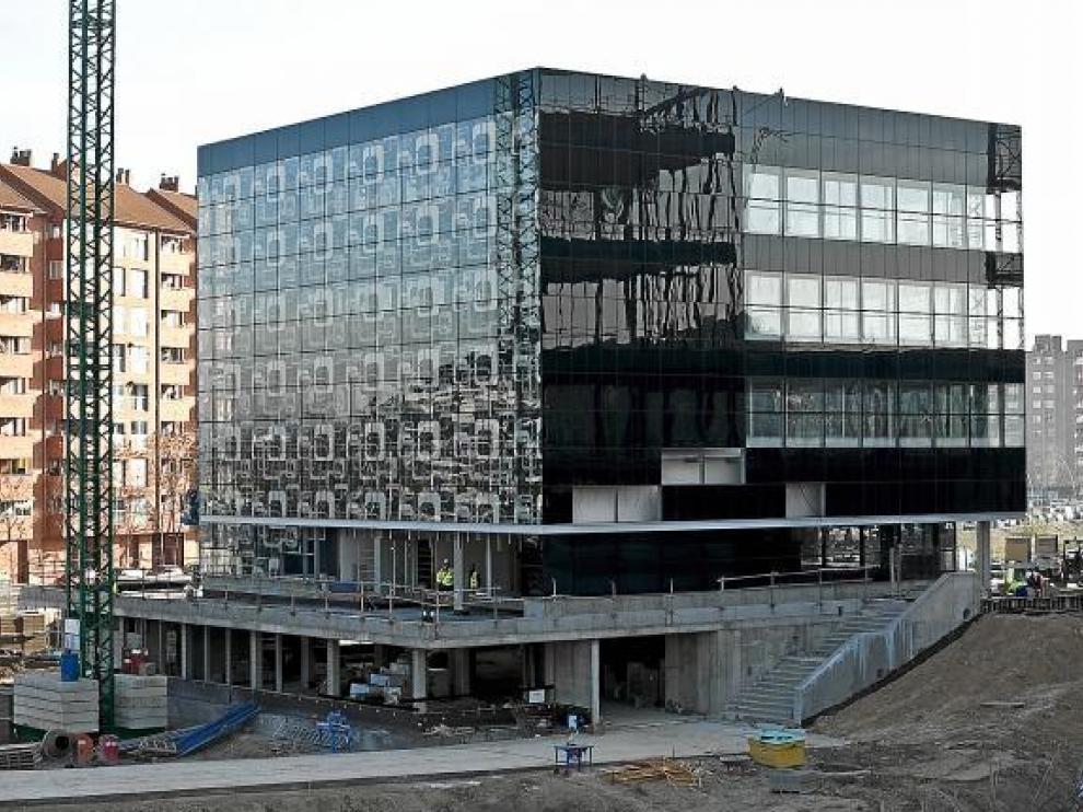 Imagen del edificio de emisiones cero, situado en el barrio de La Almozara.