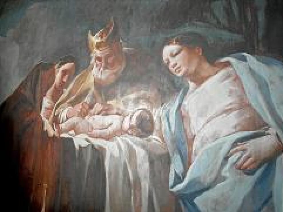 'Los desposorios', la obra en peor estado de Goya en Aula Dei, está ya restaurada