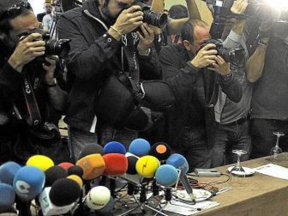 Imagen de la comparecencia pública de Alberto Contador durante la pretemporada en Palma de Mallorca.