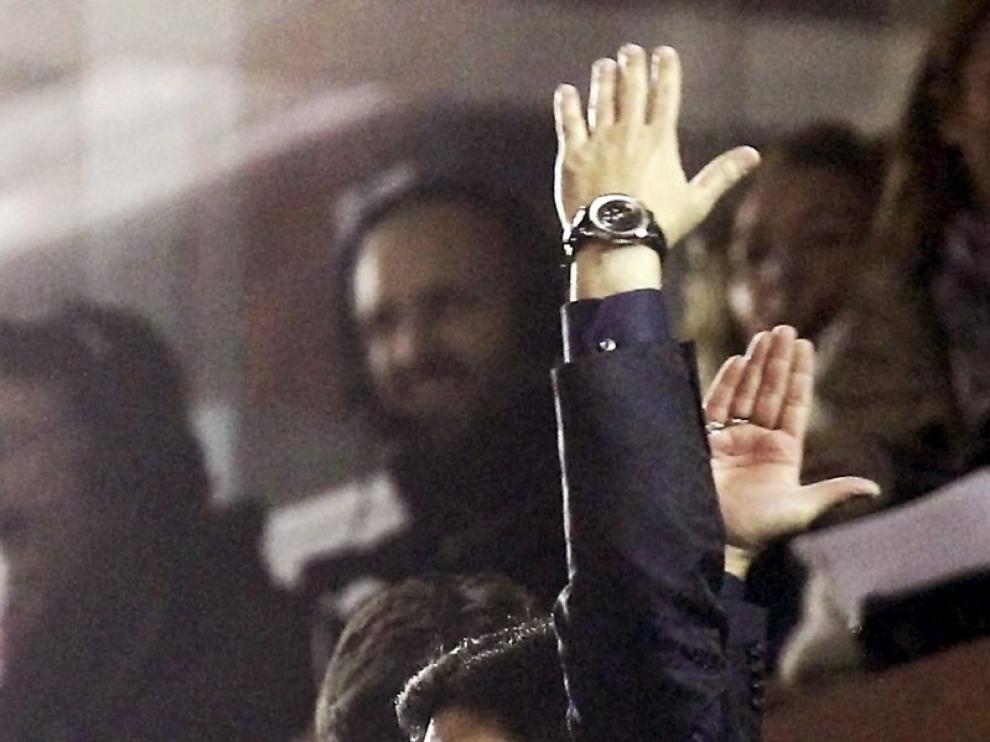 Alí Syed celebra el último gol de su equipo