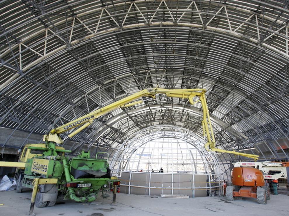 El interior del Planetario de Walqa, en obras