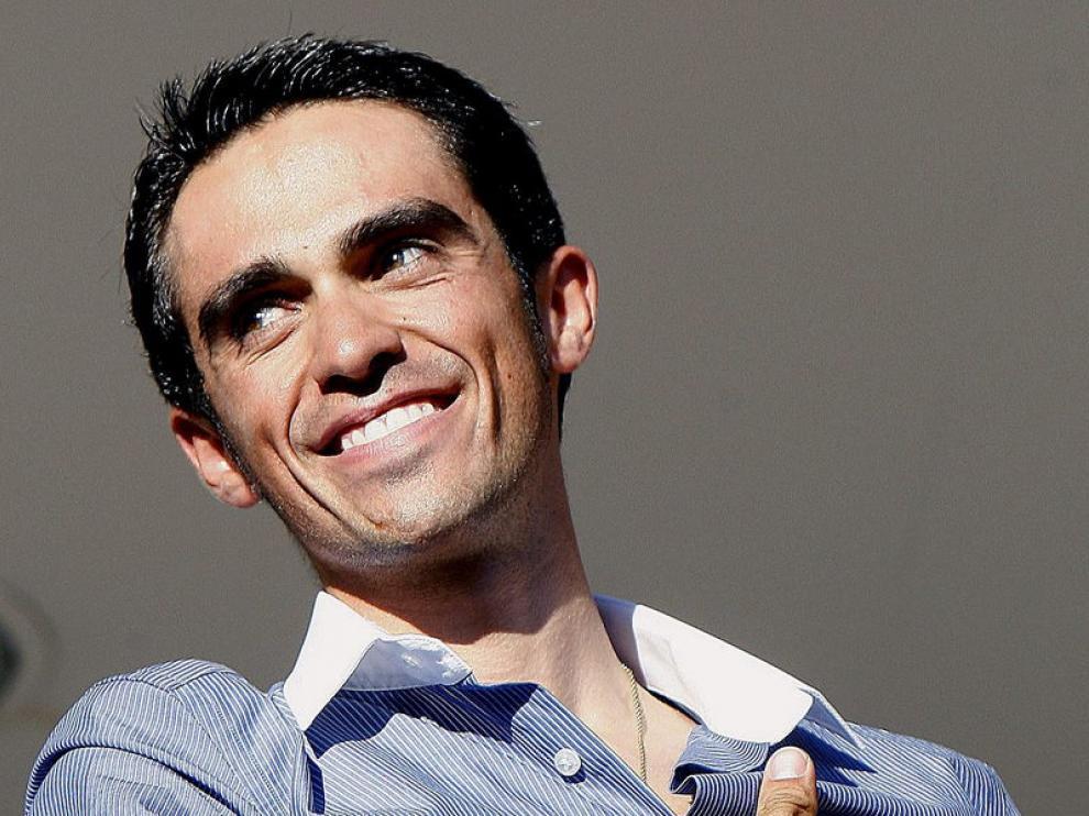 Alberto Contador, sonriente en una imagen de archivo