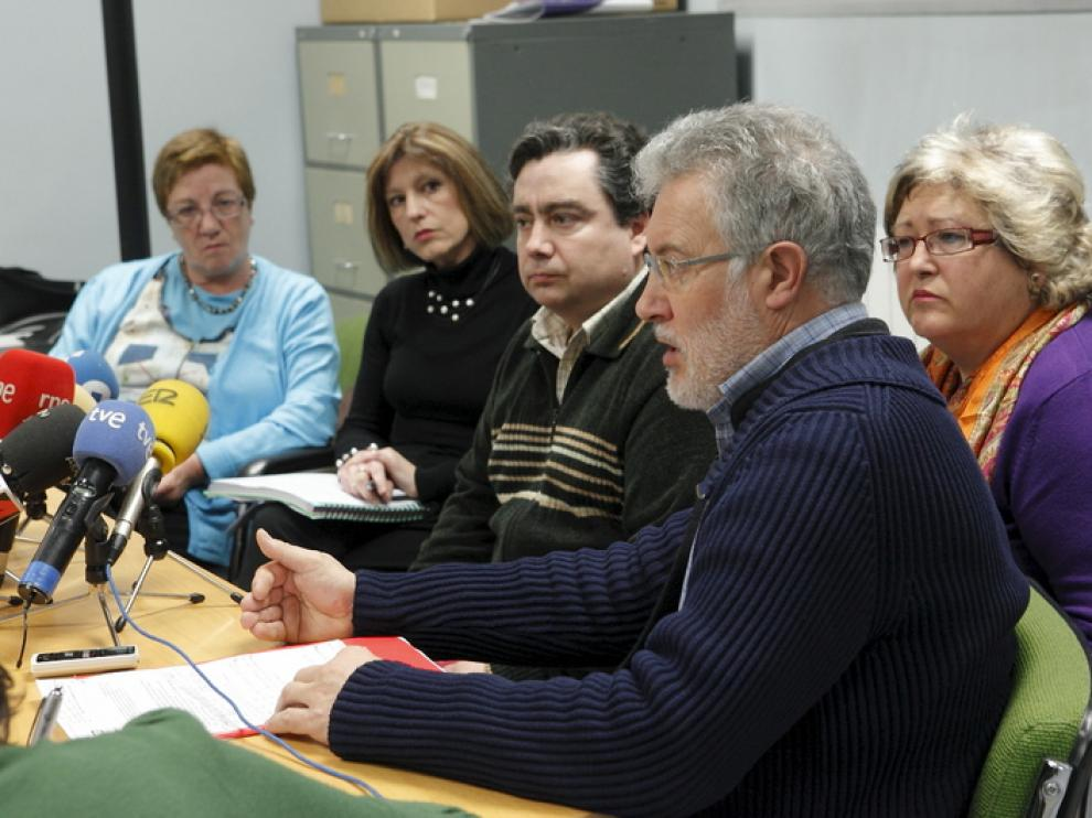 Rueda de prensa de los sindicatos de la Mesa Sectorial de Educación de Aragón