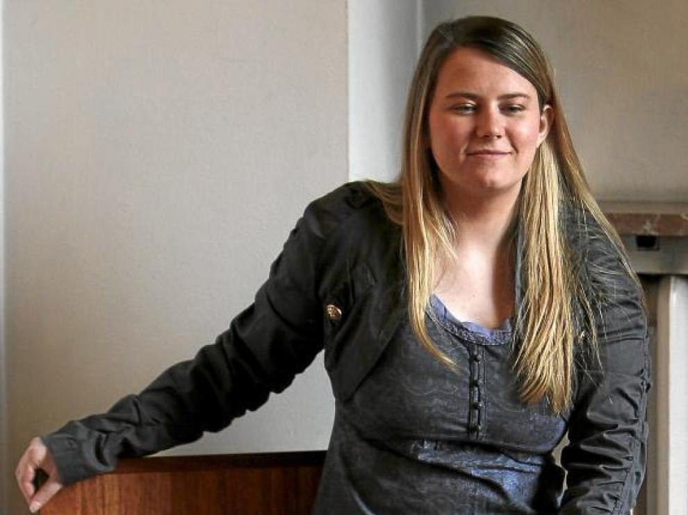 La joven austriaca Natascha Kampusch presentó su libro '3.096 días' ayer en Madrid.