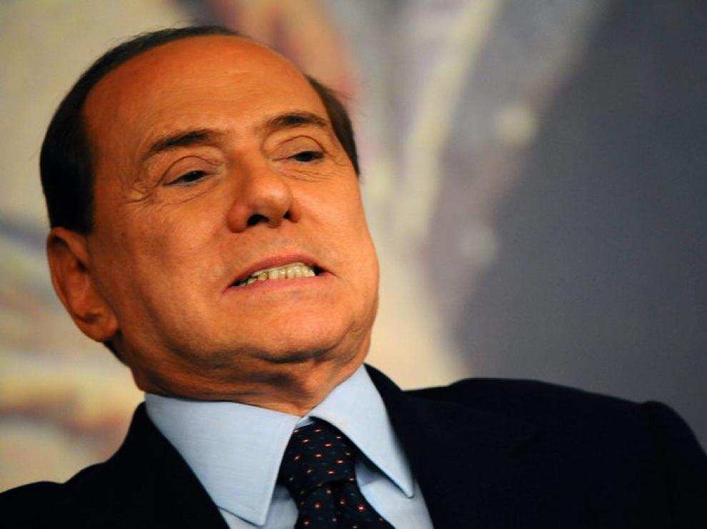 Berlusconi, en comparecencia pública