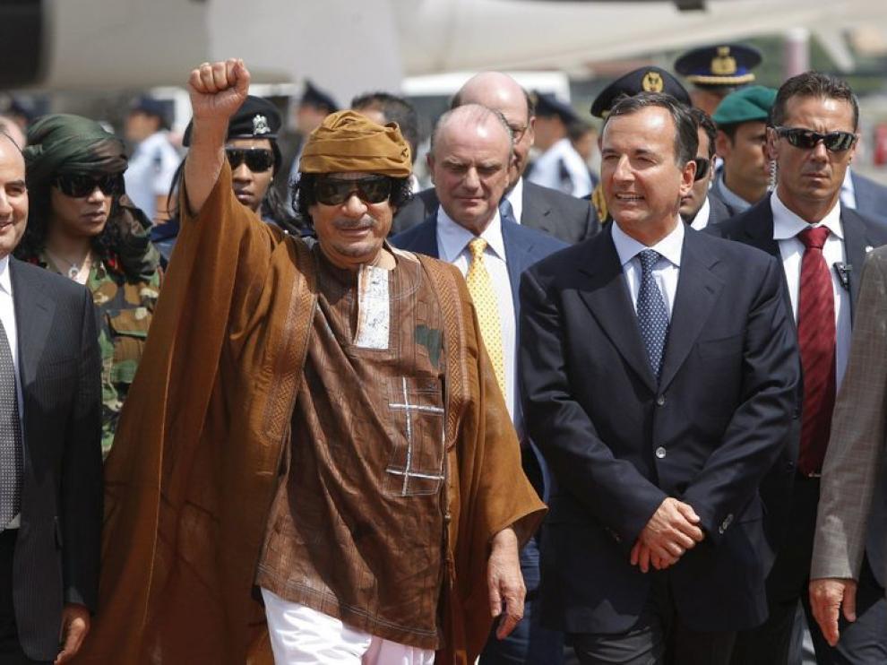 Imagen de archivo de Gadafi.