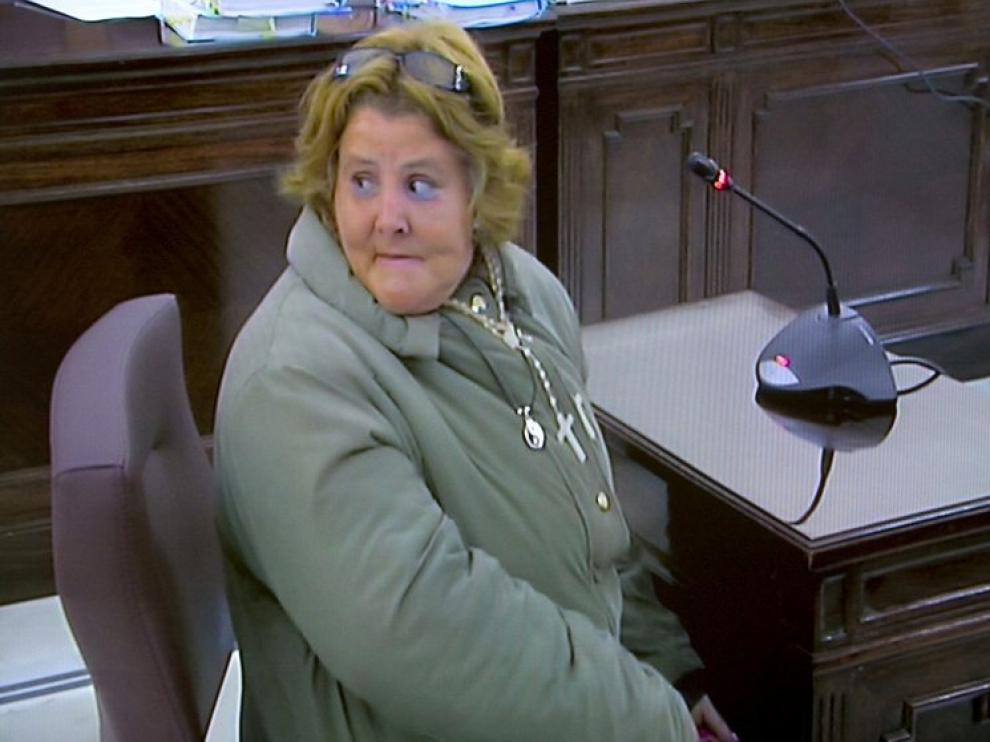 Isabel García durante el juicio
