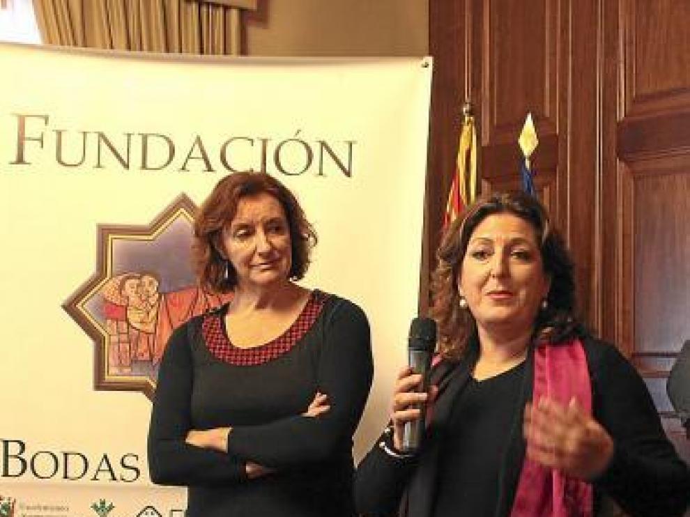 De izquierda a derecha, Raquel Esteban y Raja Bahri.