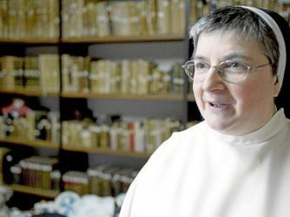 María Jesús Galán, 'sor internet', en su ya ex convento.