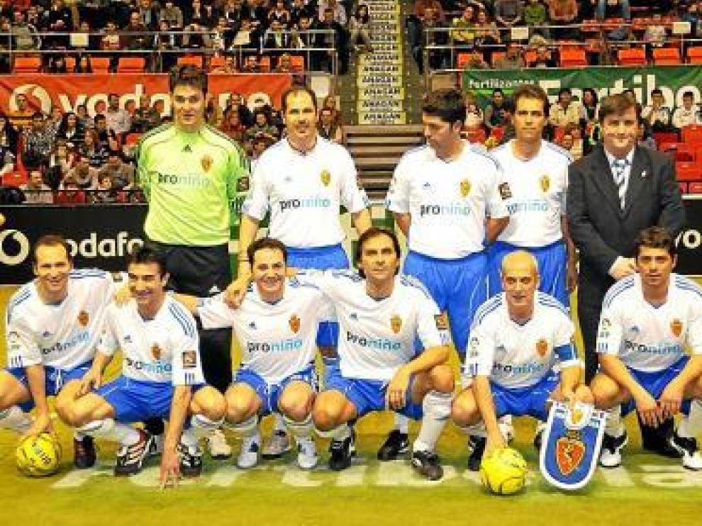 El Zaragoza 'indoor', en su primer partido.
