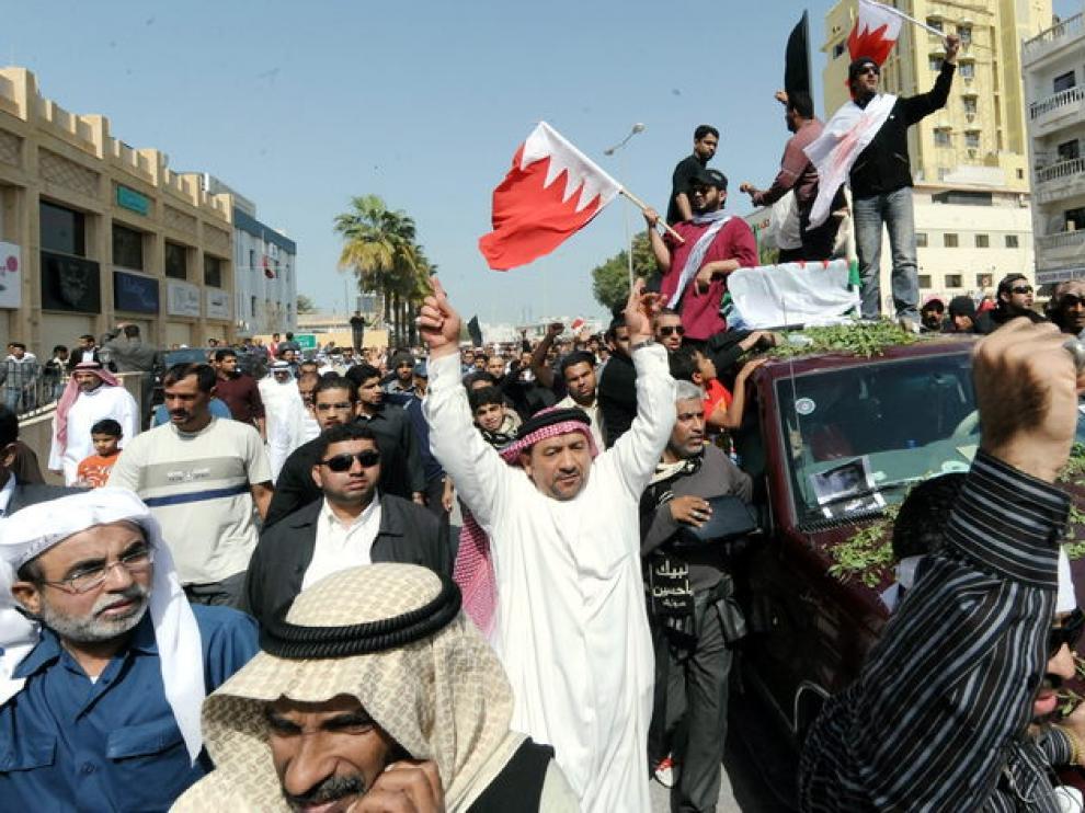 Protestantes en Bahrein