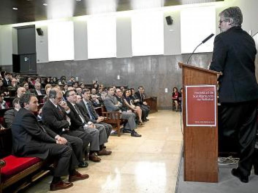 Manuel Marín, ayer en la Facultad de Derecho.