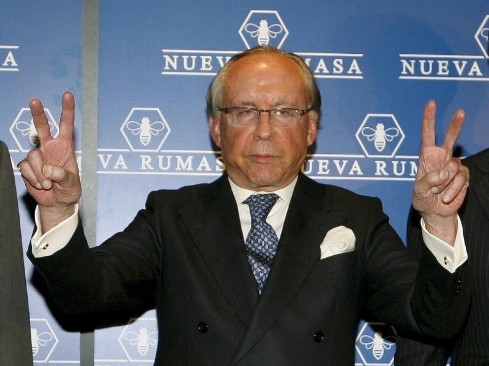 Ruiz Mateos, el jueves, al anunciar la grave situación por la que atraviesa Nueva Rumasa
