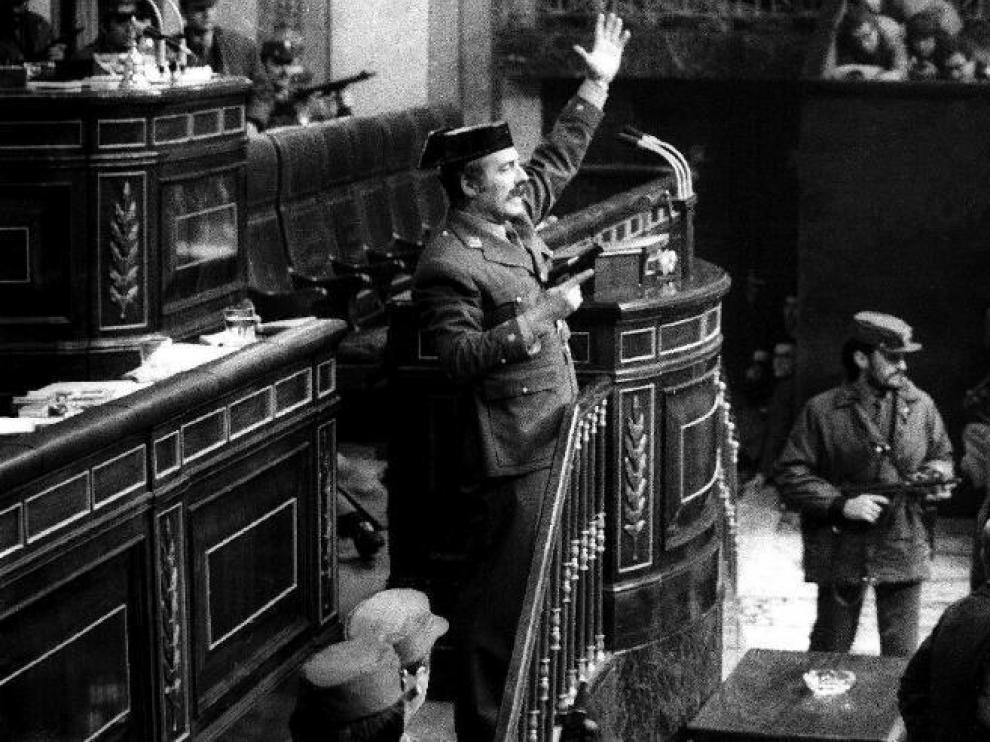 El teniente coronel Tejero, en una imagen histórica.