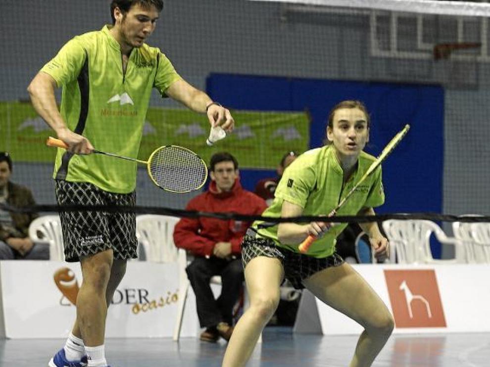 Yoana Martínez y David Leal a punto estuvieron de conseguir la victoria en dobles mixtos.