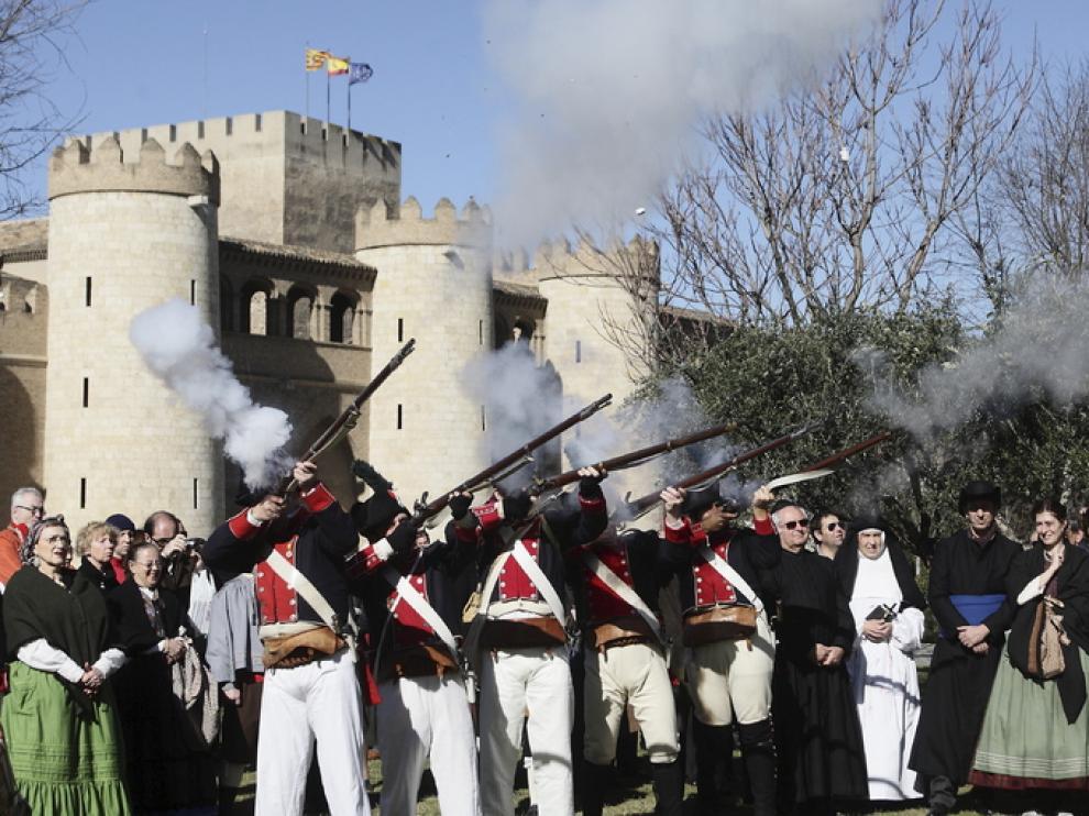 Celebración histórica en La Aljafería.