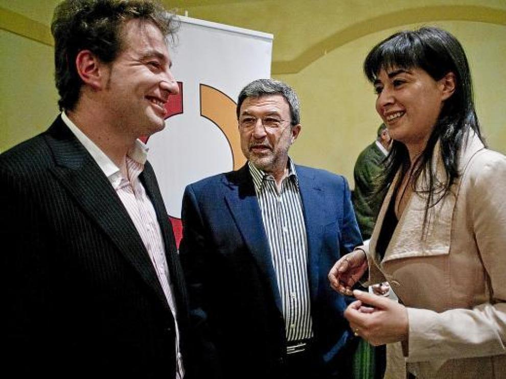 De izquierda a derecha, Joaquín Moreno, Miguel Ferrer y Arancha Martínez.