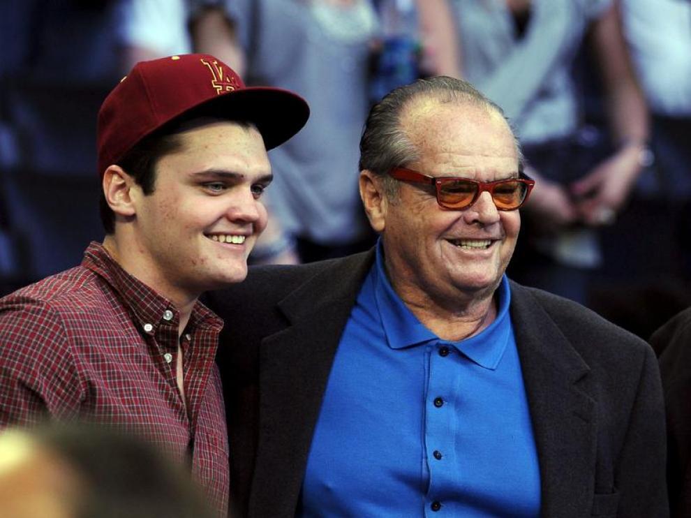 Jack Nicholson durante el All Star Game