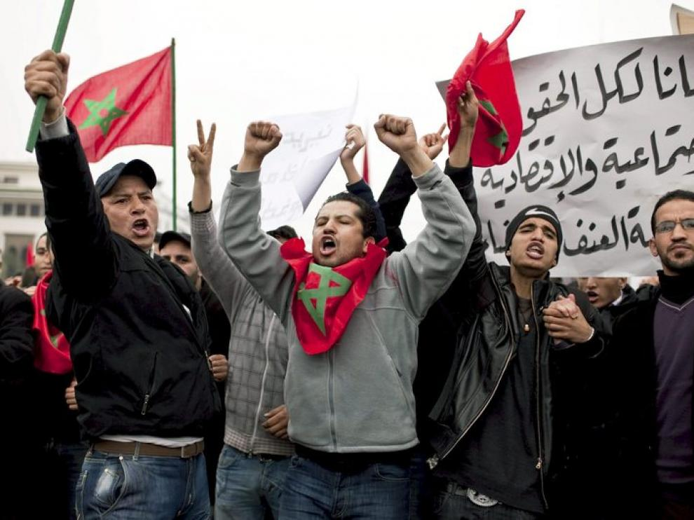 Protestas en Marruecos.