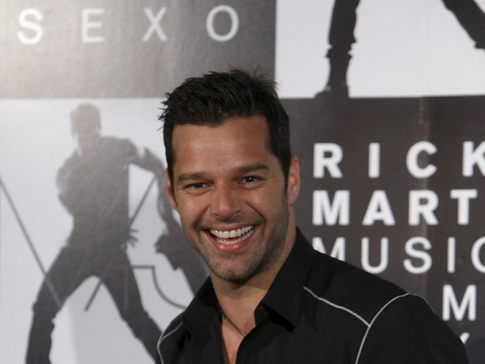 Ricky Martin en la presentación de su último trabajo