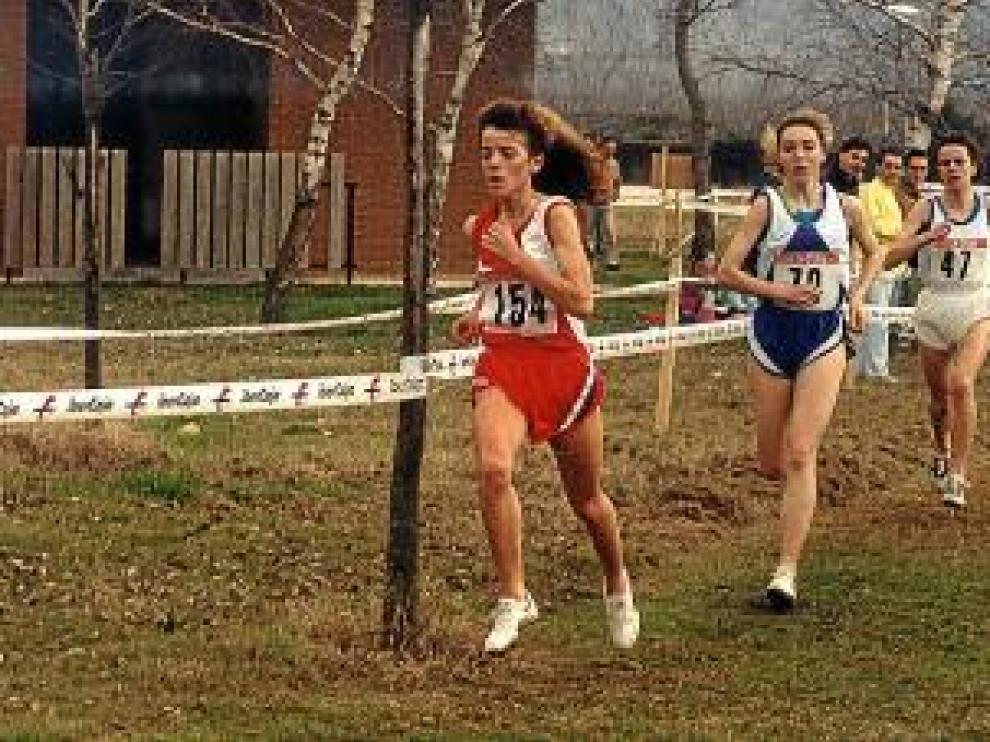 Luisa Larraga durante aquella prueba