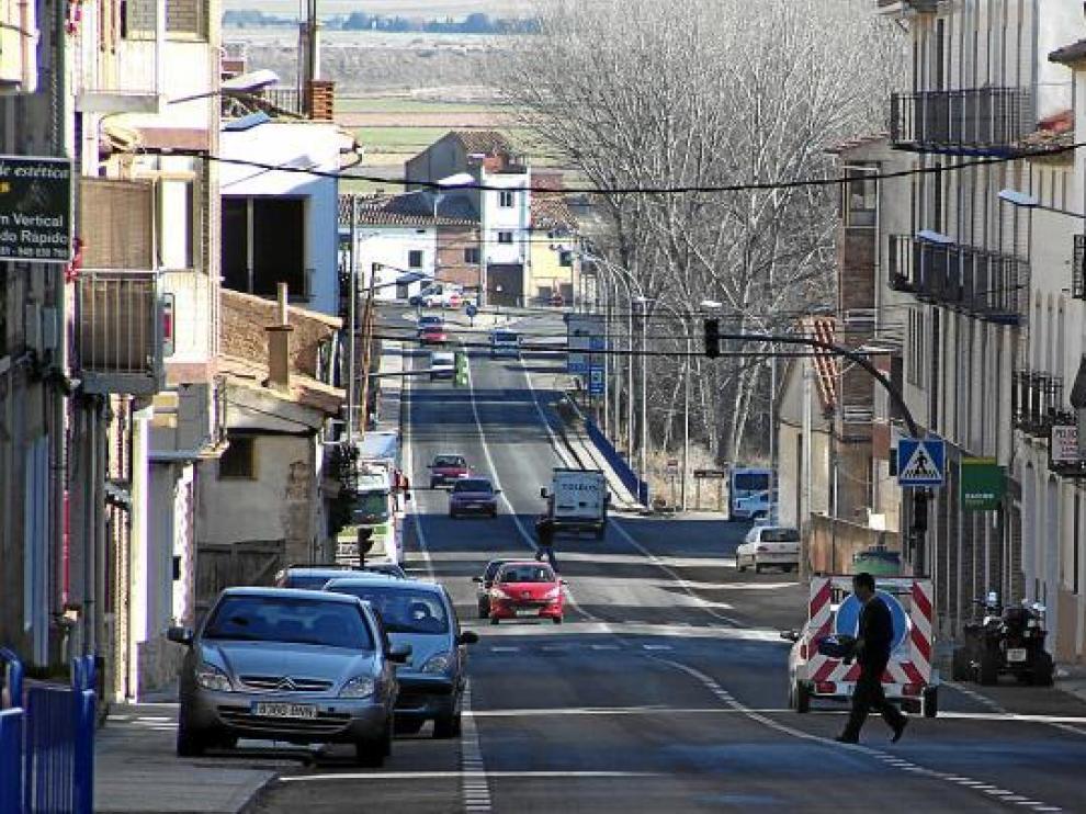 Imagen de la travesía de Monreal, donde se produjeron denuncias que han provocado quejas.