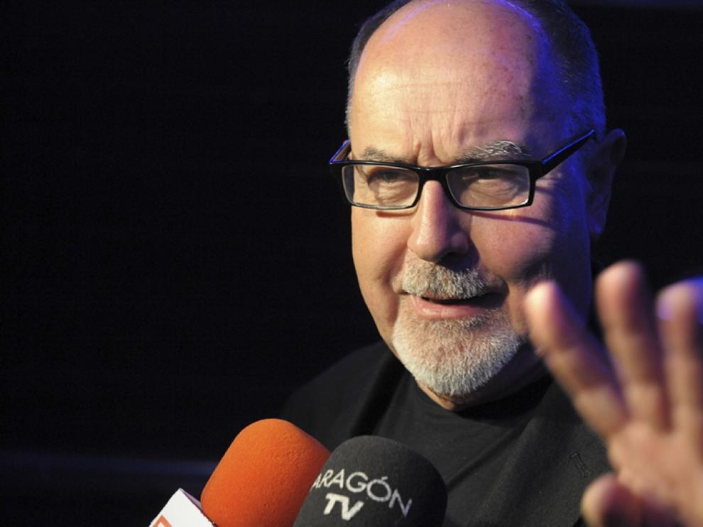 El director de cine, Bigas Luna, durante una visita a Zaragoza