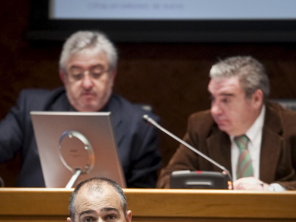 Francisco Pozuelo, director general de Tributos, en un momento de su comparecencia