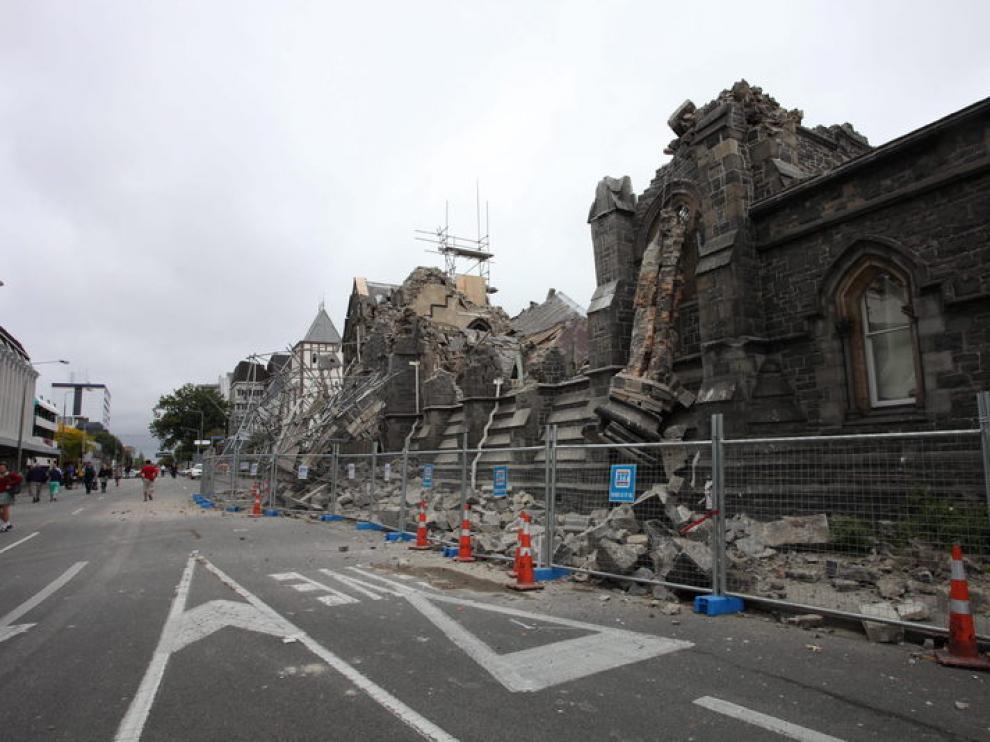 Daños por el terremoto en Christchurch