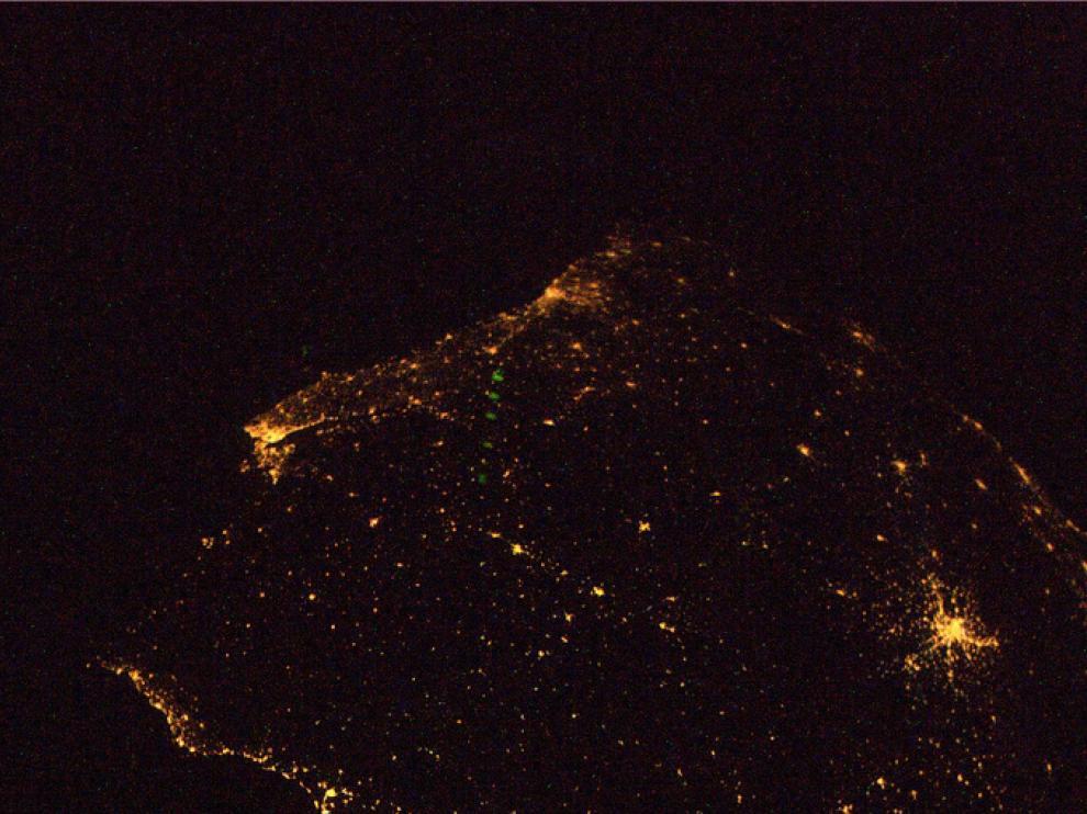España y Portugal, desde la ISS