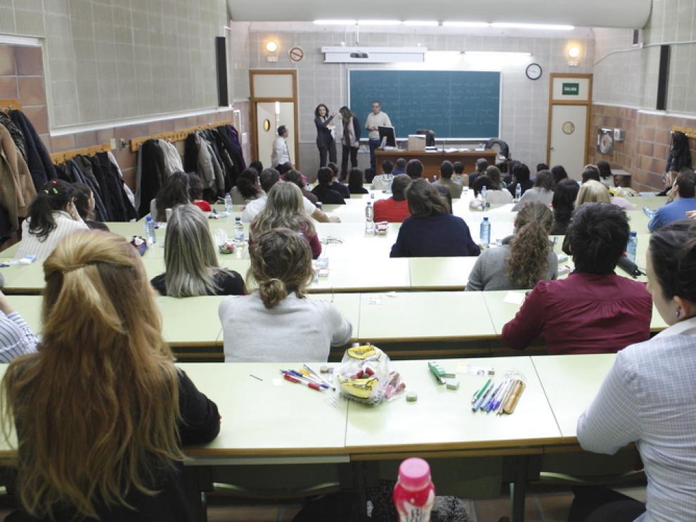Estudiantes de la Universidad de Zaragoza