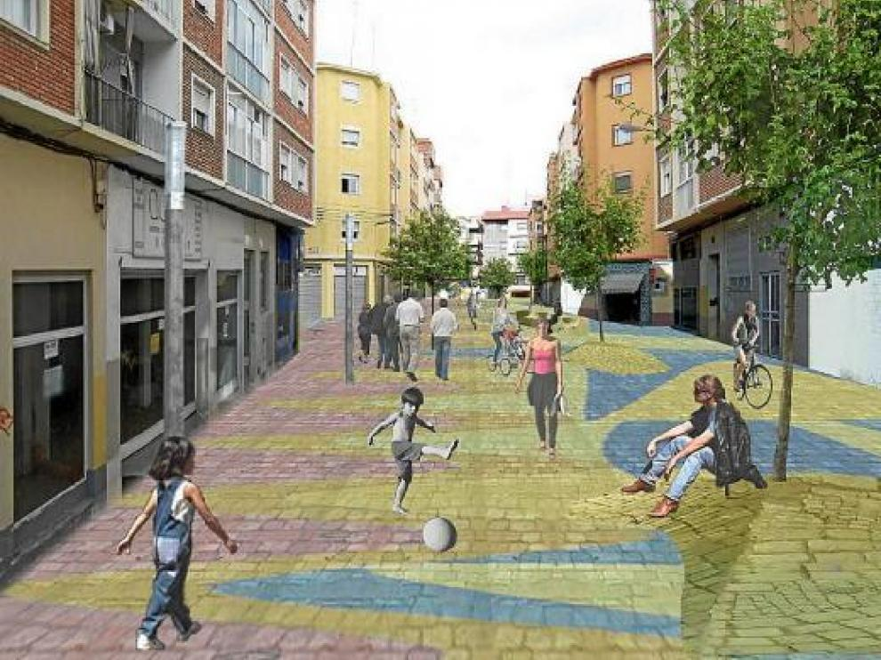 Recreación de cómo quedaría la calle de San Luis de Francia.