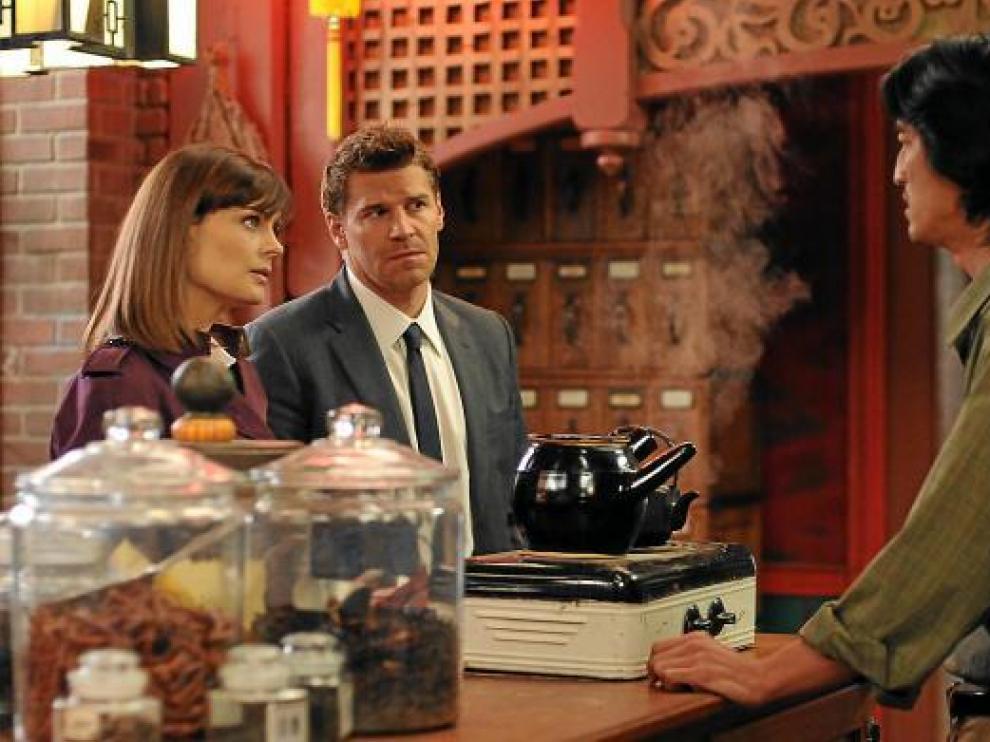 Emily Deschanel y David Boreanaz.