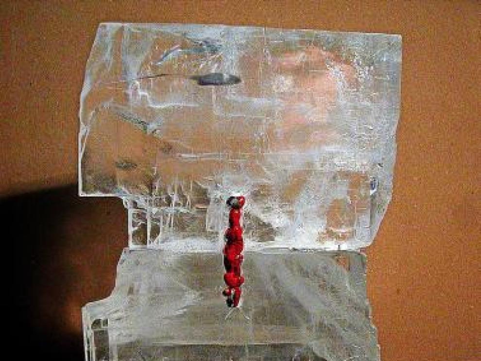 'El corazón del hielo', una de las obras expuestas.