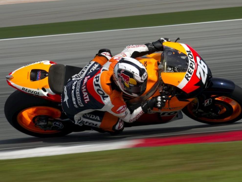 Dani Pedrosa, piloto de Honda, rodando en el circuito malayo de Sepang