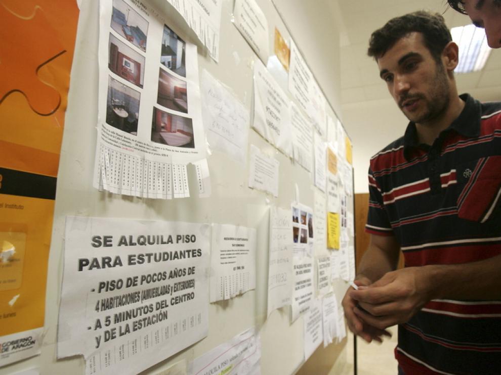 Los estudiantes son uno de los colectivos que más comparte piso