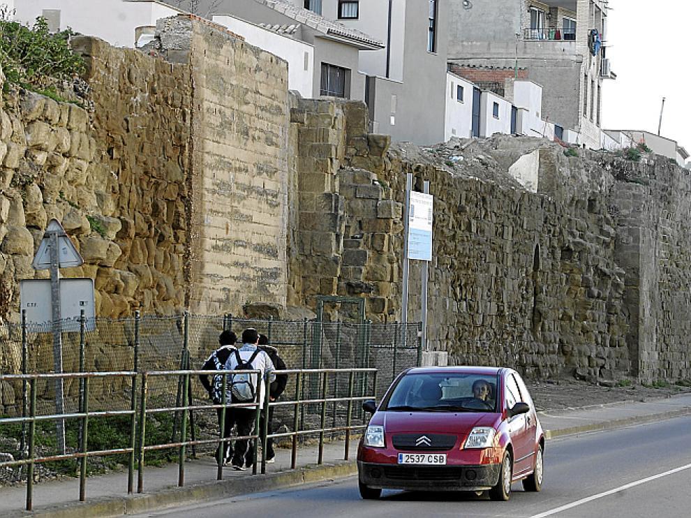 Un tramo de la muralla