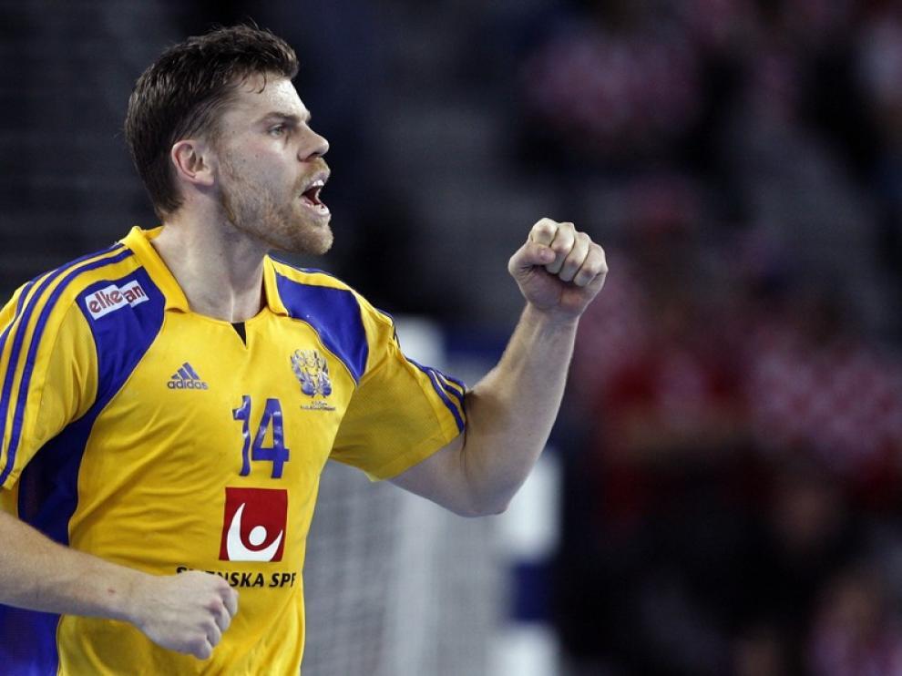 El jugador, celebrando un gol