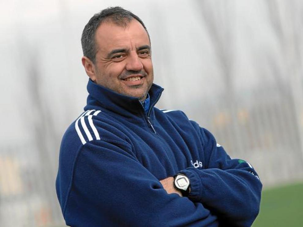 Santiago Gilaberte, durante un entrenamiento.