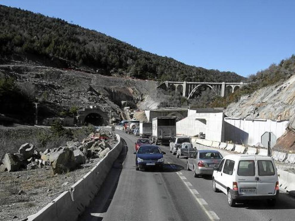 Tramo de la Autovía entre Huesca y Jaca.
