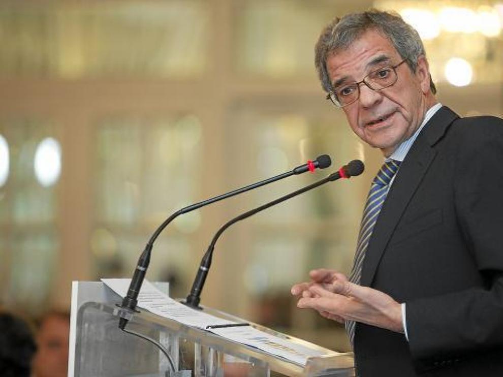 César Alierta, presidente de Telefónica, en un acto organizado recientemente en Zaragoza.