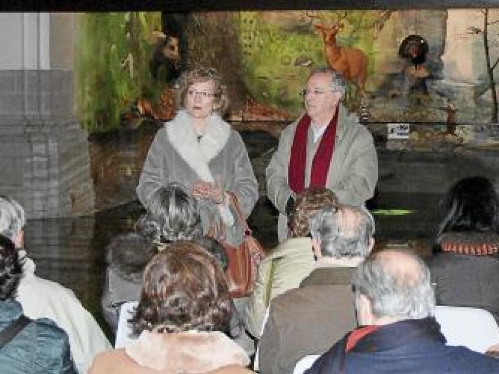 La alcaldesa recibió a Caballú en el Espacio Pirineos.