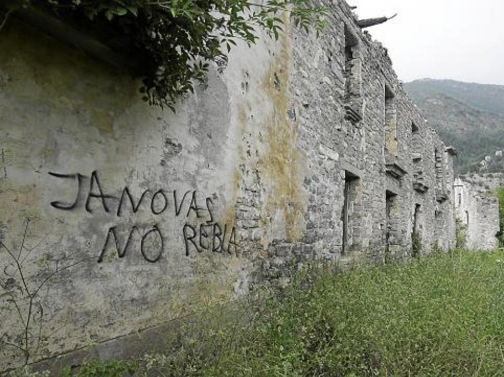 Uno de los edificios del núcleo de Jánovas, en una imagen de archivo.
