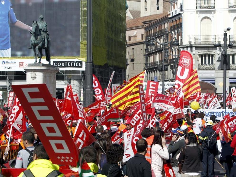 Imagen de archivo de una manifestación de trabajadores de AENA.