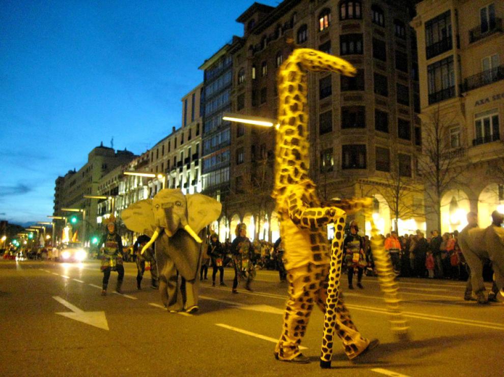 Foto de archivo del desfile del Carnaval en Zaragoza